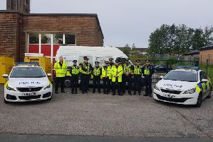 Officers involved in Operation Helmton (Picture West Yorkshire Police)