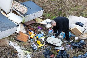 Fly-tipping in Halifax