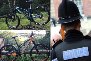The bikes which were stolen by thieves in Todmorden (Picture West Yorkshire Police)