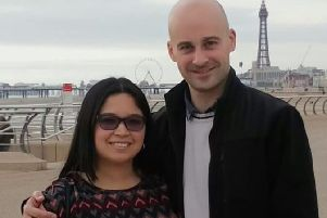 Mark and Rosa Fieldsend during a visit to the Fylde coast,before her illness