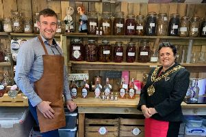 Brand launch: The Mayor of Calderdale, Cllr Dot Foster, at the launch of the SP8 Gin range.