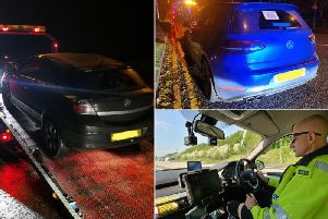 Vehicles seized by the West Yorkshire Police Road Policing Unit (Pictures by the unit)
