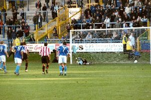 Halifax 2-1 Exeter, The Shay, October 2, 2004. Picture: Keith Middleton.
