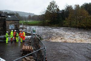 Water levels rise in Calderdale