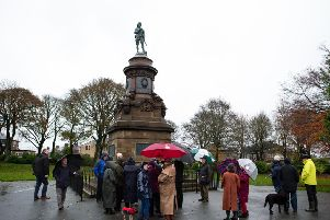 Boer War memorial rededication at West View Park, Warley Road, Halifax