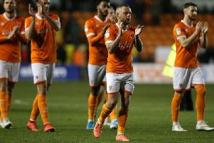 Jay Spearing leads the applause at the full-time whistle