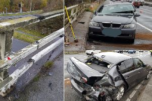 Scene of the crash on the M62 at Brighouse (Picture West Yorkshire Police)