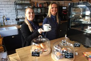 Blackpool Resort Coffee Lounge cashless cafe in Reeds Avenue. Pictured are Dana King, left, and Zella Hughes