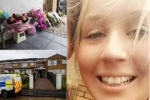 Halifax mum Paige Gibson and the scene in Halifax after her death
