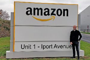 18 months of success: Venture Forge chief Andrew Banks is pictured at Amazon.