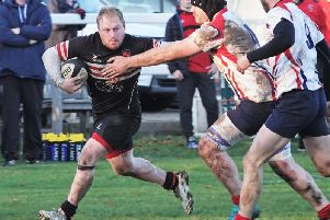 Brods' Michael Briggs on the attack at Northern.