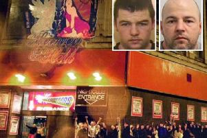The now-closed Blackpool nightclub Heaven and Hell and, above left, McCann in 2004, and, above right, McCann now (PA/Metropolitan Police)