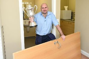 Together Housing Group Repairs Inspector Scott Waites with his BDO Championship 2016 trophy