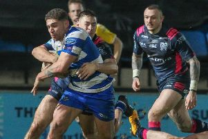 James Woodburn-Hall and Halifax are back in action at Huddersfield