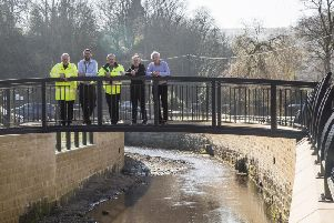 Some of the flood defence work that has taken place in Mytholmroyd