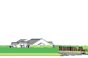 Artists impression of how the bungalows would have been set out