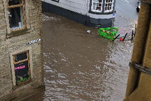 Water Street in Sowerby Bridge has flooded. Picture sent in by Rob Wimpenny.