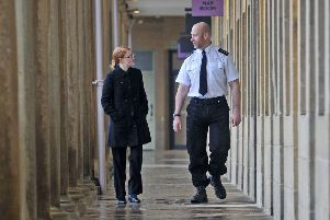 Walkabout: Talking to Chief Insp Nick Smart in the Piece Hall.