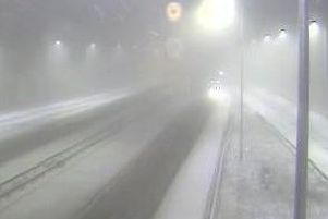 Snow has fallen on the M62 PIC: Highways England