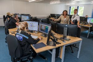 Picture James Hardisty. Crime Commissioner for North Yorkshire Julia Mulligan and North Yorkshire Police's Temporary Chief Constable Lisa Winward officially opened the new Force Control Room building.