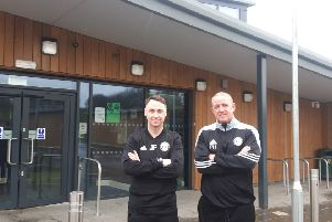 Jamie Fullarton and Phil Hughes at the Leeds University Sports Centre