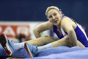 Holly Bradshaw is all smiles after winning the British Indoor Championships'(Photo: Getty Images)