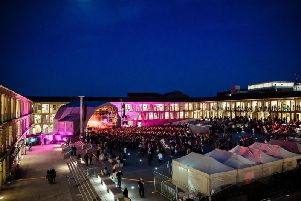 Flashback to when Father John Misty performed at The Piece Hall last year