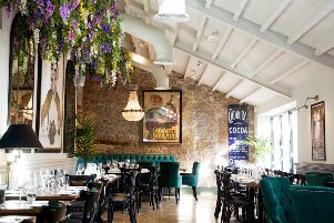 The restaurant at The Impeccable Pig in Sedgefield, County Durham