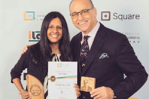 Babita Mistry with Theo Paphitis