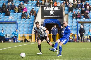 Action from Halifax v Eastleigh at The Shay earlier this season.