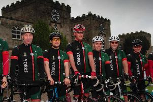 Cyclists prepare to saddle up and ride across Yorkshire for Halifax Regiment