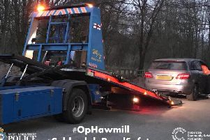 Operation Hawmill was deployed in Queens Road, Halifax (Picture WYP)