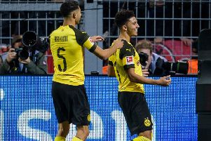 Jadon Sancho could become the first �100m English player. (Photo by J�rg Sch�ler/Getty Images)