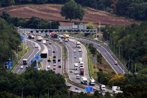 The M62 at Brighouse.