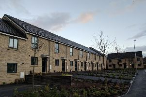 Homes on the former Perseverance Mill site, Padiham