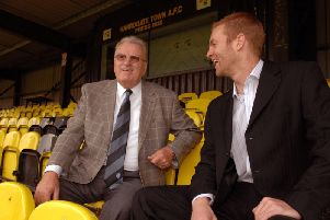 Bill Fotherby and Simon Weaver at Harrogate Town's Wetherby Road base in 2009.
