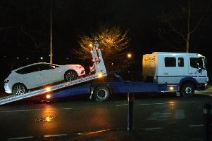 The car which was seized by police in Firth Park