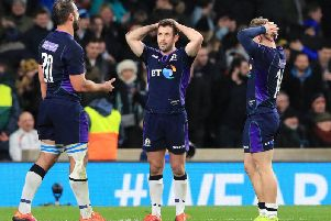 Scotland players can't believe it at the end (PA)