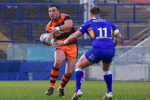 Grant Millington, set to return after suspension for Castleford Tigers. Picture: Craig Cresswell