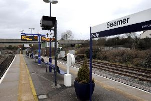 A person has died in an incident at Seamer station.