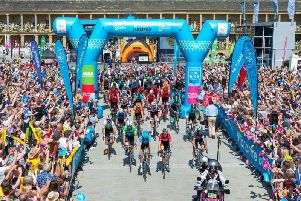 The race at The Piece Hall last year - Picture by Bruce Fitzgerald Photography