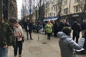 Film crews have been spotted on Corn Market in Halifax Town Centre