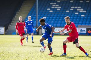 FC Halifax Town 2-2 Bromley at The Shay. Devante Rodney