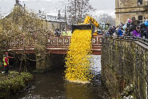 Hebden Bridge duck race