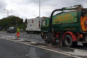 Dead chickens on the M62