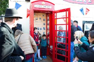 Opening of the Warley Village Museum, in an old phone box