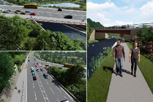 Ambitions bridge scheme from Elland bypass (Picture Pell Frischmann)