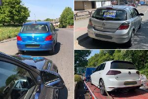The cars seized by West Yorkshire Police's road policing unit