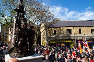 "Unveiling ceremony of the Duke of Wellington�""s Regimental Memorial Statue, Halifax"