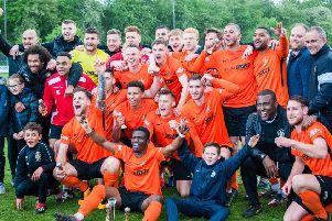 Brighouse Town after their season-ending win at Pontefract